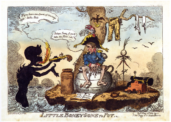 Cruikshank_-_Little_Boney_gone_to_Pot
