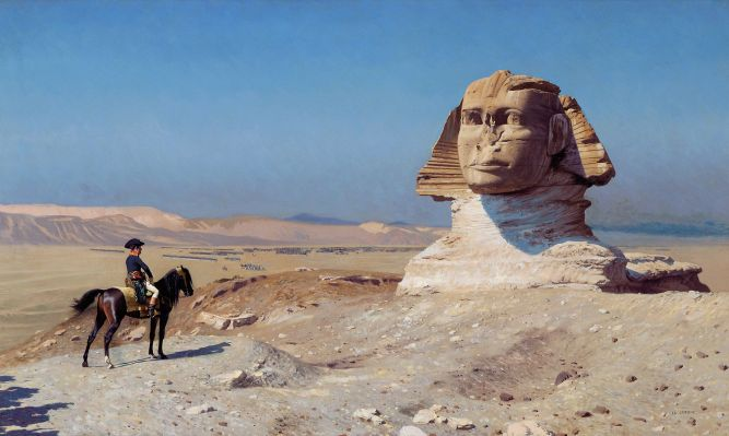 bonaparte in front of the sphinx