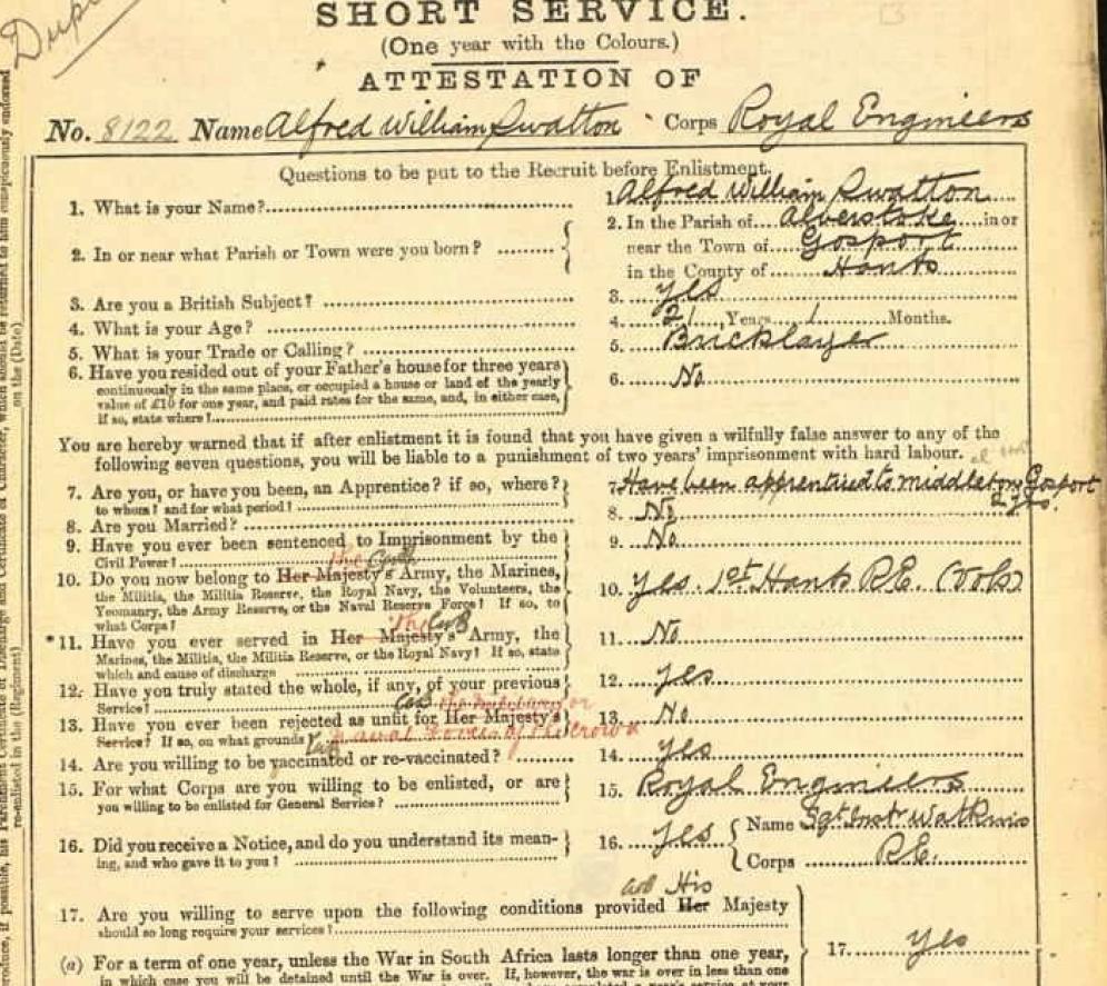 boer war enlistment