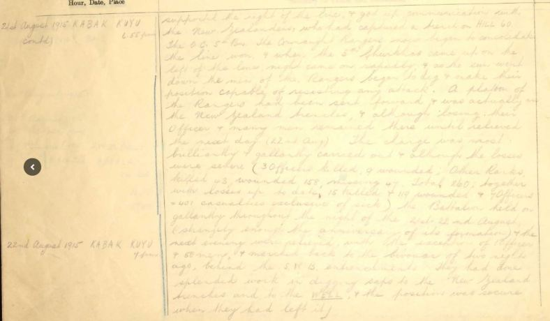 connaught rangers diary 2